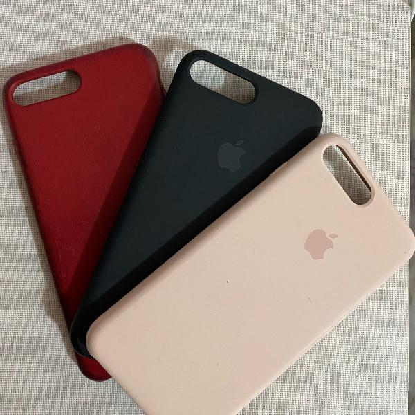 3 cases iphone 7/8 plus originais apple