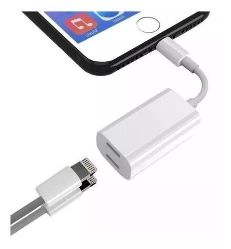 Adaptador iphone 7 8 plus x fone + carregador lightning appl