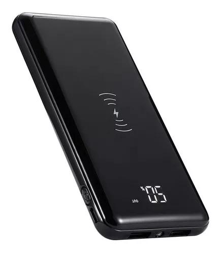 Bateria extra power bank v8 qi wireless 10000mah led usb x1