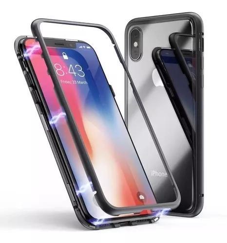 Capa capinha magnetica luxo iphone 6 7 8 plus x xs xr xs max