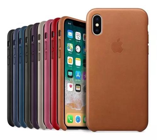 Capa case couro iphone xs max 6.5 pr