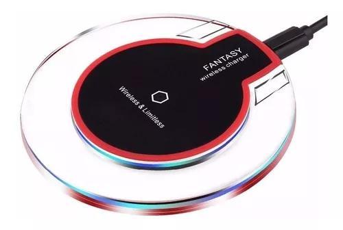 Carregador indução s/ fio samsung s6 s7 s8 s9 iphone 8 x