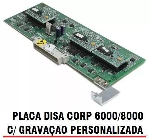 Placa atendedor disa t pabx corp 6000/8000 gravação