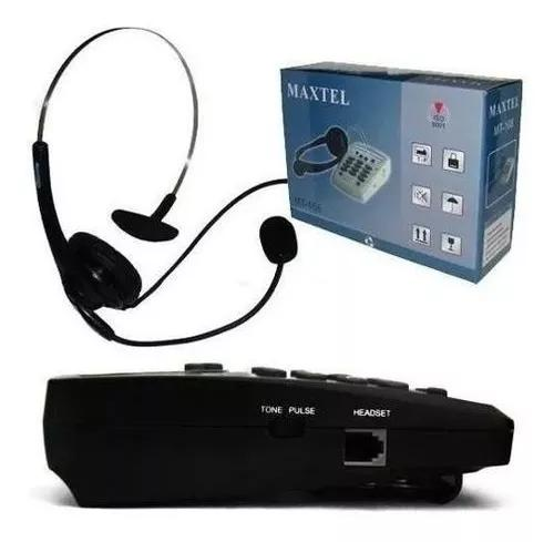 Telefone headset maxtel mt-108 atendimento