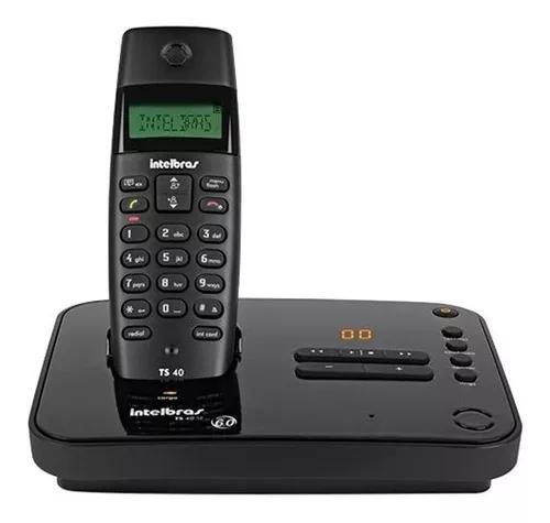 Telefone s/fio c/ secretária eletrônica preto ts40