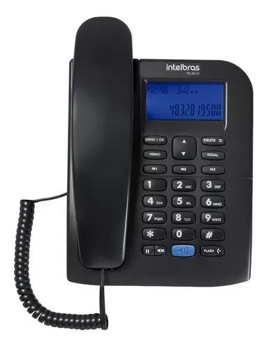 Telefone tc 60 id identificador chamadas viva voz intelbras