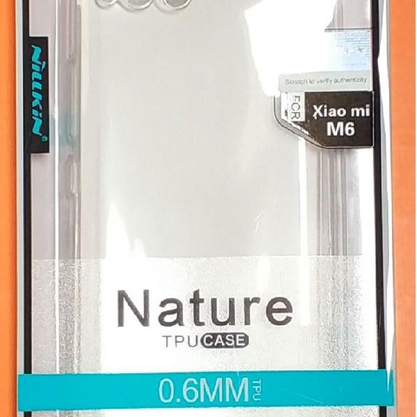 Capa celular xiaomi m6 transparente tpu case 0,6mm