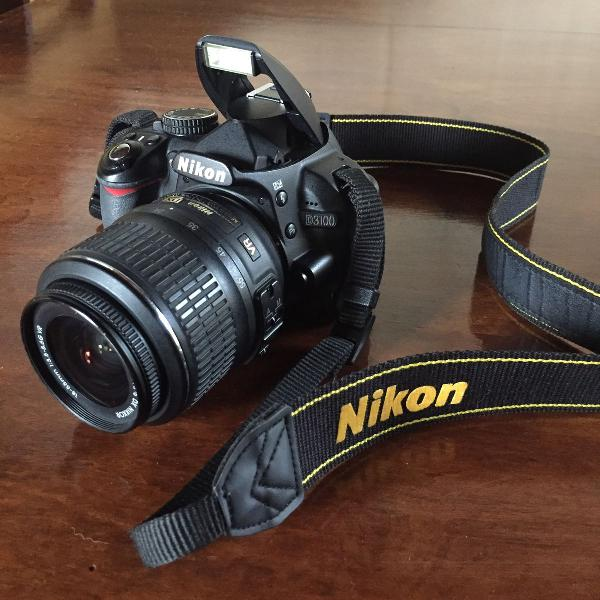 Câmera fotográfica profissional nikon d3100