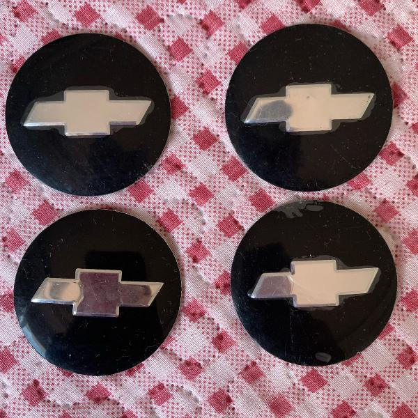 Emblema gm preto com cromo, novo