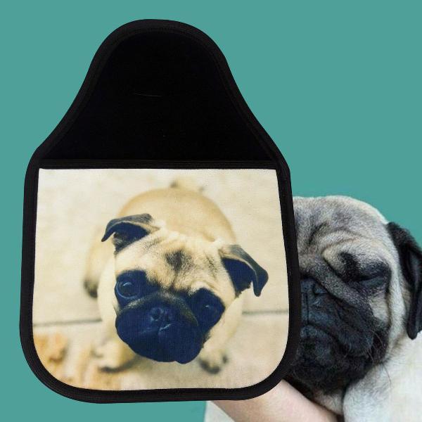 Lixeira para carro personalizado - cachorro pug