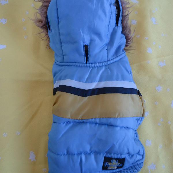 Roupa para pet casaco petparadise azul claro usado