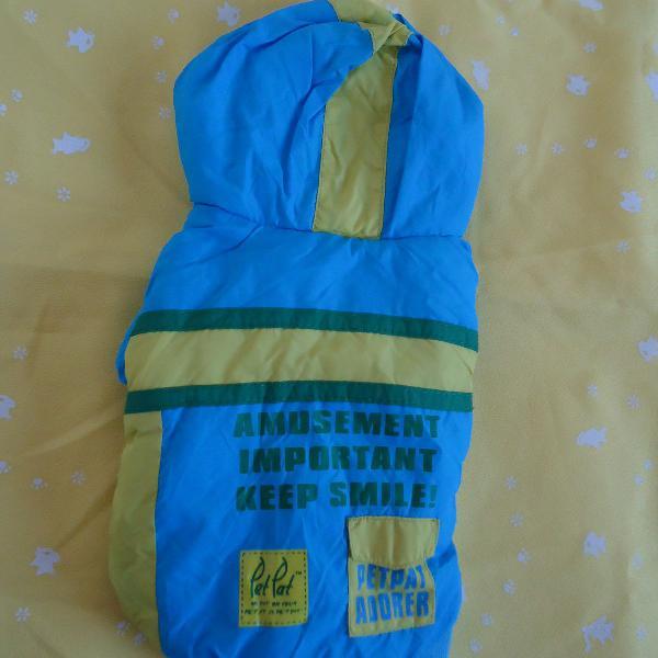 Roupa para pet casaco petpat azul amarelo usado
