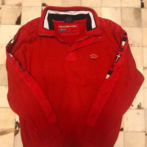 Blusa paul shark original vermelha m