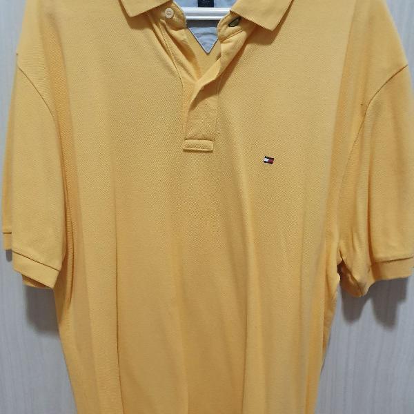 Camisa polo amarela tommy hilfiger