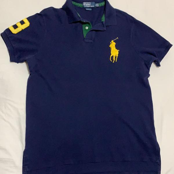Camisa polo azul marinho polo ralph lauren