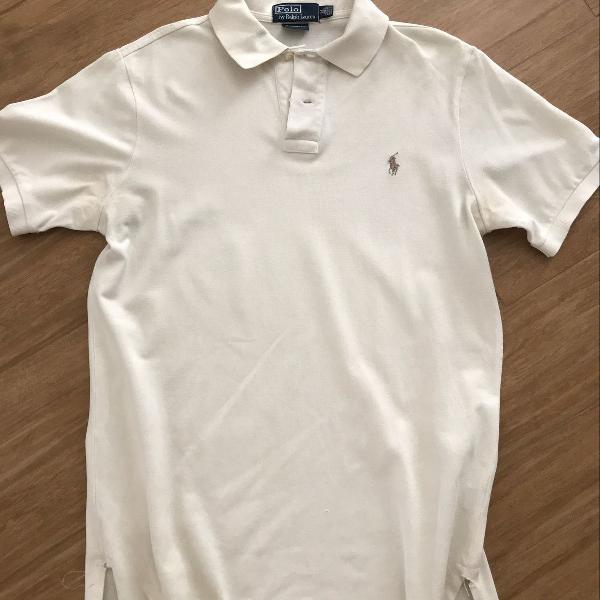 Camisa polo ralph lauren cor gelo