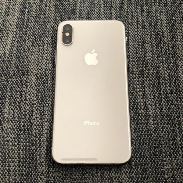 iphone x branco / prata 64 gb