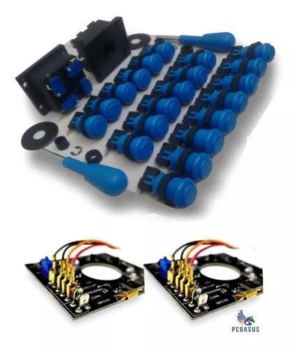 20 botões + 2 comandos completos + 2 placas ópticas
