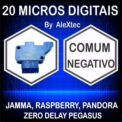20 micros ópticas/digital comum negativo fliperama arcade