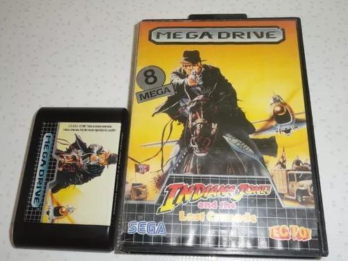 Indiana jones tectoy sega mega drive + caixa leia anuncio