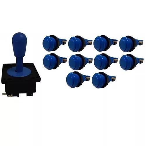 Kit comando aegir 10 botões de nylon azul