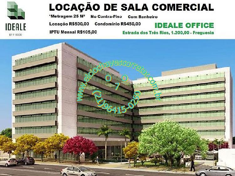 Locação sala comercial edifício ideale office - estr. dos