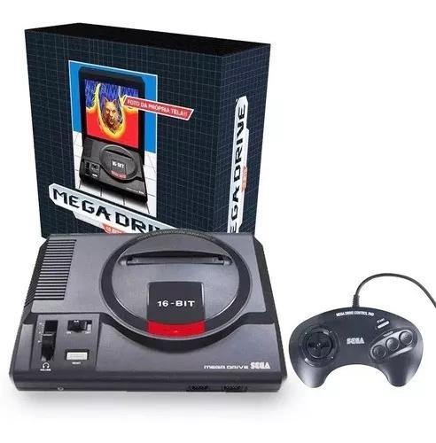 Mega drive 16 bits tectoy + 22 jogos + joystick nacional rj