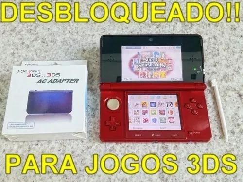Nintendo 3ds Desbloqueado + Jogos A Sua Escolha