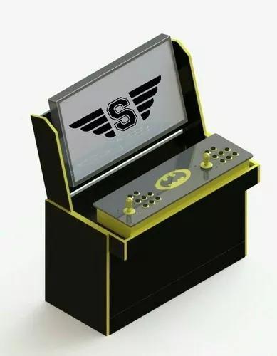 Suporte base mesa preta/branca apoio arcade portátil e tela