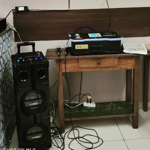 Vídeoke/ karaokê/ musicbox portátil com sist