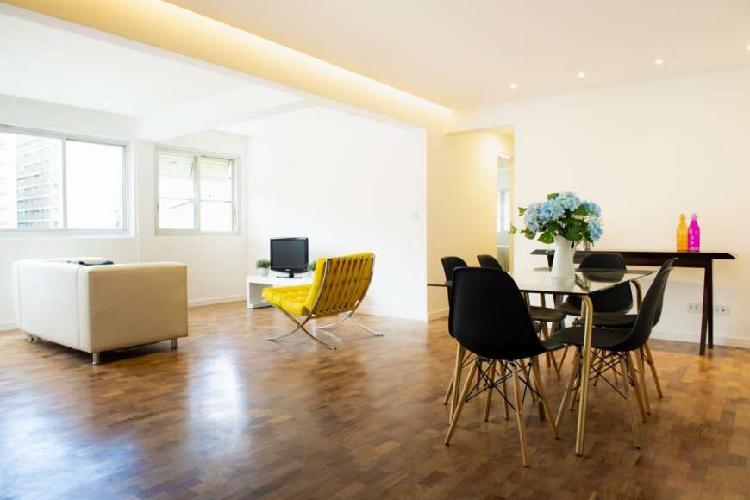 Apartamento jardins 110m² 2 suites - no melhor do jardins