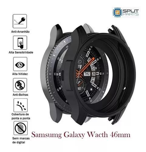 Capa case protetora samsung galaxy watch 46mm + película