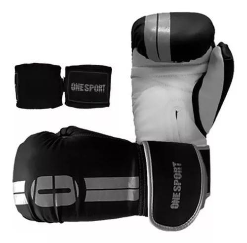 Conjunto luva boxe treino luta + band elastica 2,5 metros