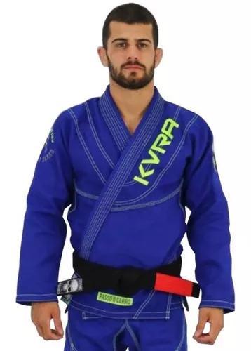 Kimono jiu-jitsu kvra shadow trançado azul royal