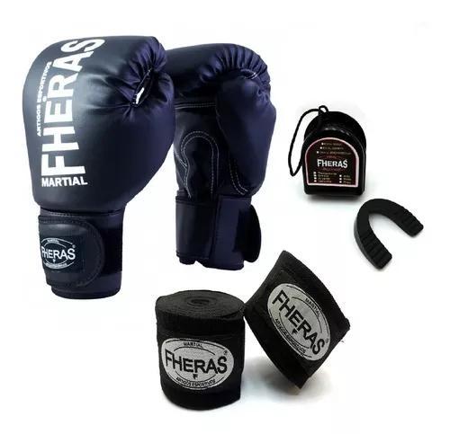 Kit boxe muay thai kickboxe mma luta luva bandag