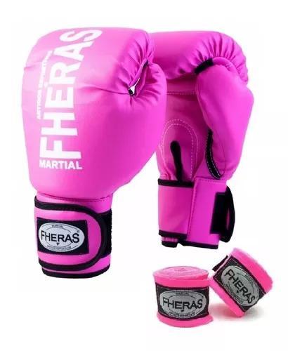 Kit boxe muay thai mma fheras luva bandag