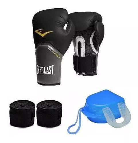 Kit de boxe / muay thai - luva everlast
