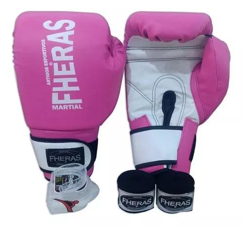 Kit para treino top boxe muay thai luva bandag