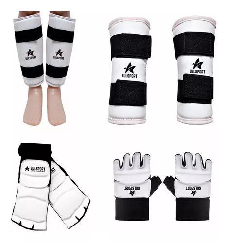 Kit taekwondo meia + caneleira + luva + antebraço sulsport