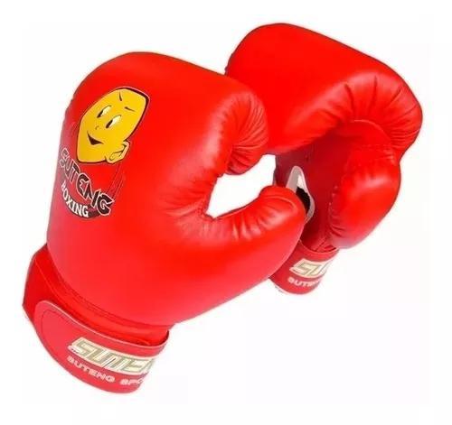 Luva Boxe Muay Thai Mma Infantil De 4 A 12 Anos Suteng