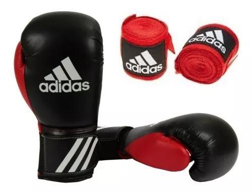 Luva boxe muay thai adidas response preta + bandag