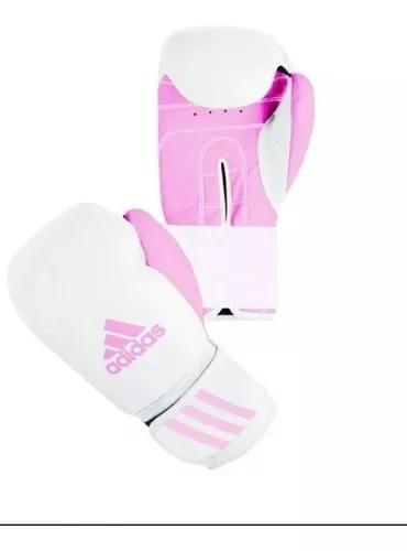 Luva boxe muay thai adidas response rosa f