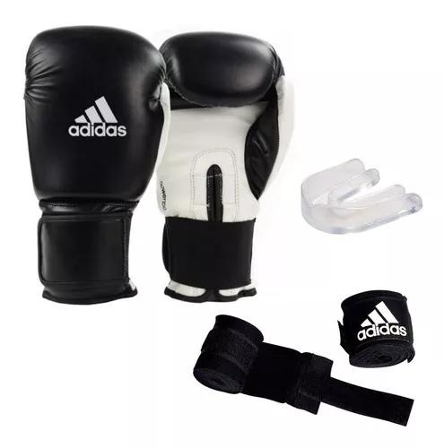 Luva boxe muaythai adidas power 100 preta + bandag
