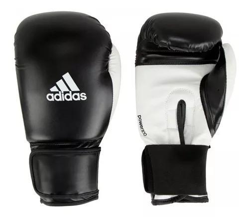 Luva de boxe muay thai adidas power 100 preta e branca
