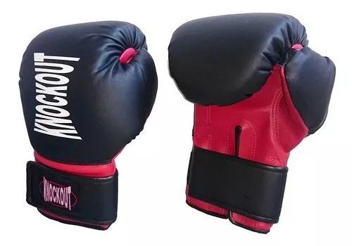 Luva infantil muay thai boxe sintética knockout