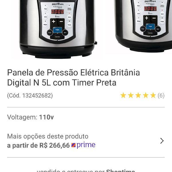 Panela de pressão elétrica 5l britânia digital 220v