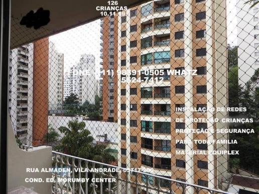 Redes de proteção na vila andrade, rua almadem, condominio
