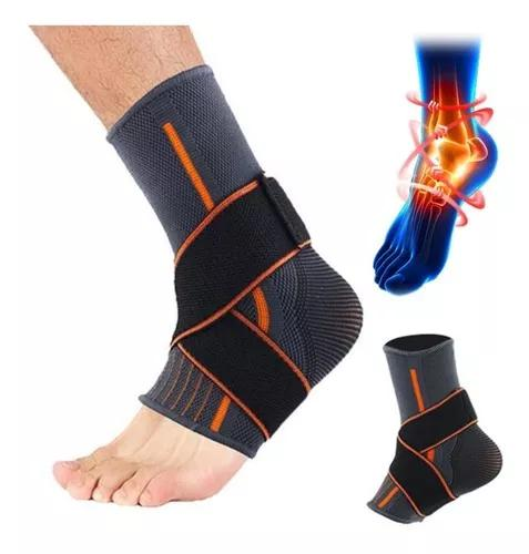 S - suporte de tornozelo brace compressão respirável pé