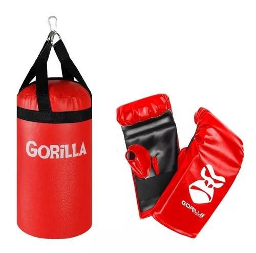 Saco pancada + luva kit infantil gorilla - queima de estoque