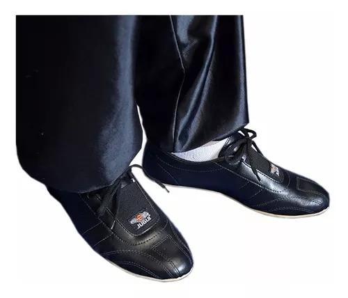 Sapatilha sapato ecocouro para kung fu antiderrapante